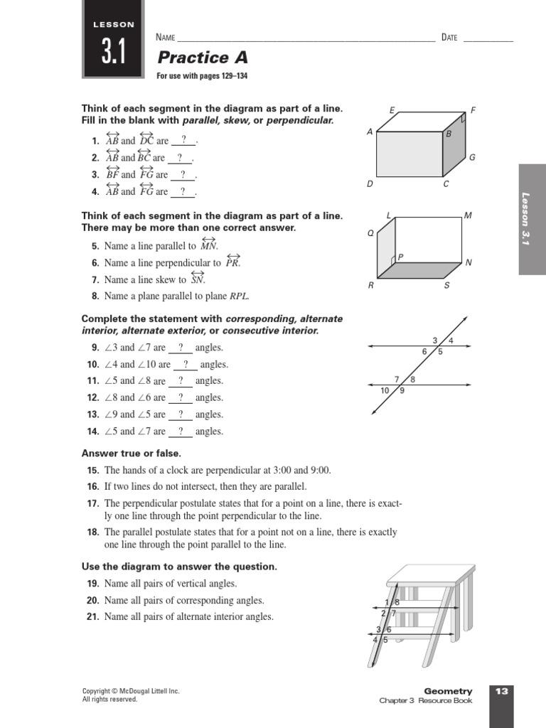 Workbooks Mcdougal Littell Geometry Workbook Pdf Free Printable