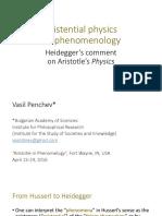 Existential physics as phenomenology  Heidegger's comment on Aristotle's Physics