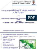 Large-amplitude interval waves observed in the Adriatic