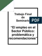 El empleo publico-Problematica y recomendaciones - Bravo, Kon y Zelayes