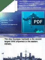 On the Garibaldi ship archeological site