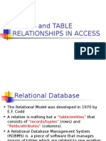 RDBMS and Table Relationships
