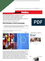 Más Schengen y Menos Demagogia