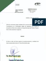 El Partido Popular solicita el acondicionamiento y asfaltado de la Calle Fuenlabrada