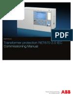 1MRK504140-UEN en Commissioning Manual Transformer Protection RET670 2.0 IEC