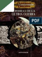 D&D - Módulo - Sombras de La Última Guerra