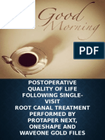 Postoperative Quality of Life Following Single-Visit