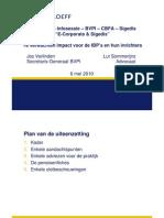 L.Sommerijns & J. Verlinden - Te verwachten impact voor de IBP's en hun inrichters