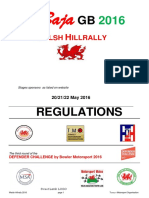 2016 Welsh Hillrally Regulations