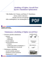 Maintenance Scheduling of Fighter Aircraft Fleet With Multi-Objective Simulation-Optimization