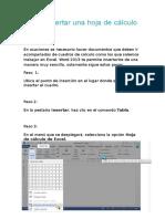 Cómo Insertar Una Hoja de Cálculo de Excel