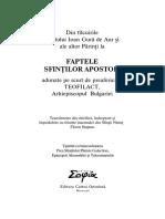 Teofilact, Sf., 2007, ~1075, Talcuire la Faptele Apostolilor