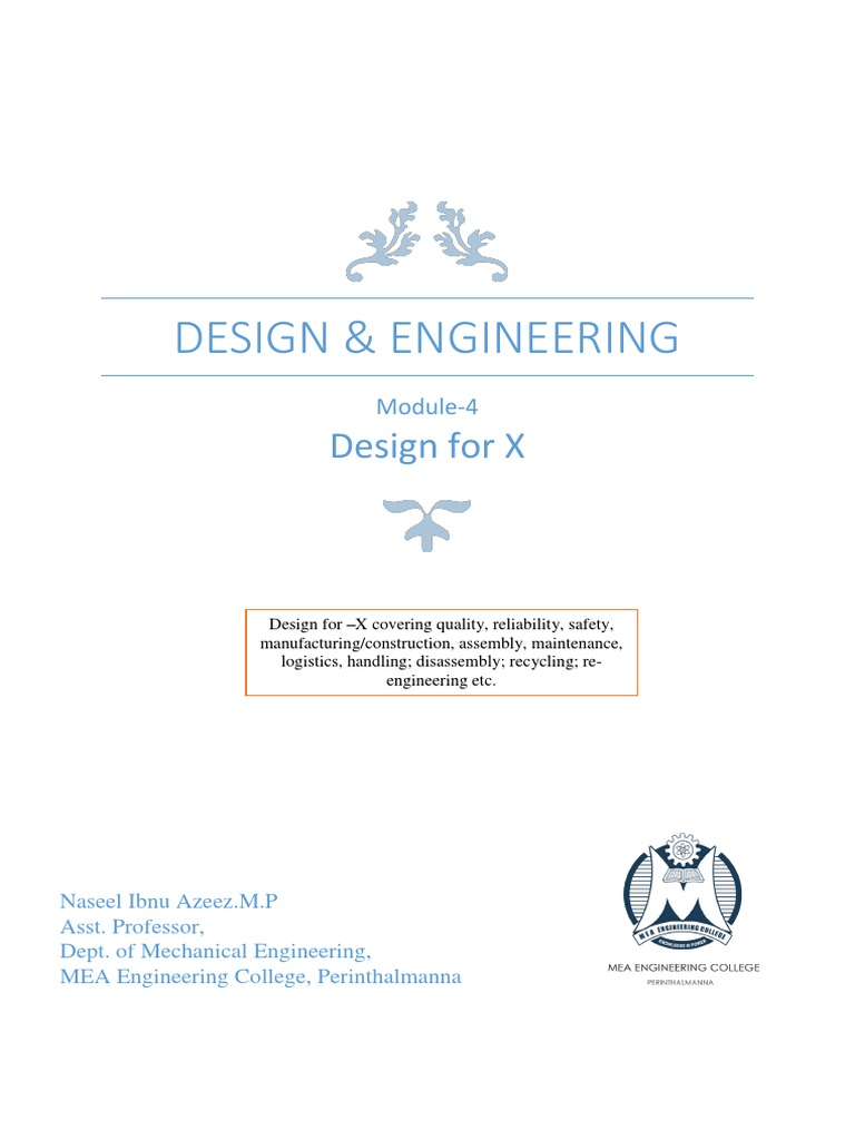 Design for x design and engineering ktu module 4 reliability design for x design and engineering ktu module 4 reliability engineering reuse fandeluxe Images