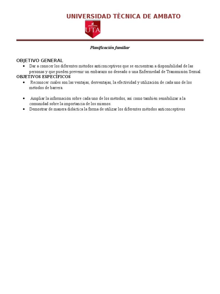 Metodos de planificacion familiar ventajas y desventajas pdf