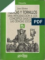 Elster Tuercas y Tornillos Una Introduccion a Los Conceptos Basicos de Las Ciencias Sociales [100691]