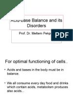 Acid-base Balance and Its Disorders