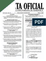 Gaceta Oficial Número 40.884 de la República de Venezuela, 13 de abril de 2016