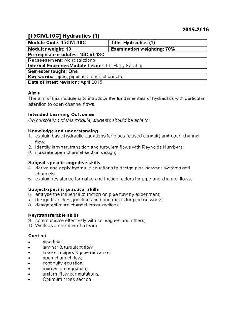 hydraulic fundametals essays