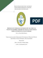 Propuesta de Un Programa de Intervención de Conductas Violentas en Hombres Agresores de Violencia Intrafamiliar Desde El Enfoque de Las Masculinidades
