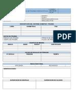 Registro de Prubas Hidrostaticas