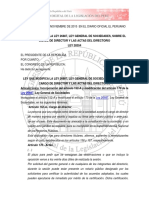 Ley 30354 - Ley Que Modifica La LGDS