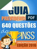 #GU1@ PR3V1D3NC1@R10 INSS EDIÇÃO 2016 Concursadopublico.blogspot.com.Br