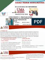 Exposicion Proyectos de Investigación II Bioseguridad- Uma 2015