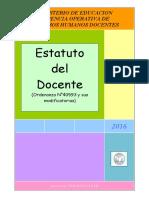 Estatuto Del Docente - Feb 2016