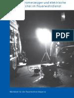 stromerzeuger und elektrische verbraucher im feuerwehrdienst