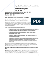 Barrie Transit Multi Year Accessibility Plan Priorities