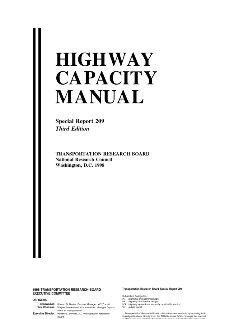 highway capacity manual 3rd edition controlled access highway