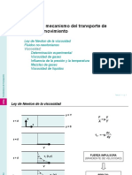 Tema 1 Viscosidad y Mecanismo Del Transporte de Cantidad de Movimiento Ley de Newton de La Viscosidad Fluidos No Newtonianos