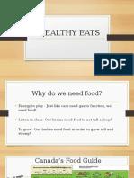 healthy eats presentation