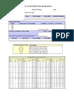 WISC IV Interpretative Worksheet