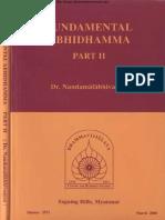 152. Funamental Abhidham Part2 - Baddanta Dr. Nandamalabhivamsa