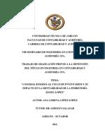 Control Interno Al Ciclo de Inventarios y Su Impacto en La Rentabilidad de La Ferreteria