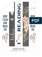 Printable Reading Bookmarks by Blooming Homestead