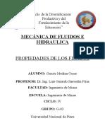 Propiedades de Los Fluidos - Mecánica de Fluidos e Hidraulica