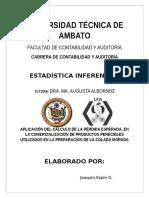 INVESTIGACIÓN PÉRDIDA ESPERADA