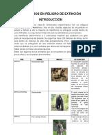 Mamiferos en Peligro de Extinción Autor Maria de Los Angeles Juarez Vaca