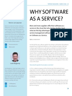 Why software as a service?