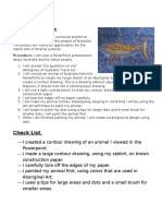 aboriginal dot art rubric and check list