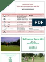 2016 Summer Sports Camp Brochure