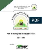 PLAN DE MANEJO DE RESIDUOS SOLIDOS SALLIQUE - JAEN -PERU.pdf