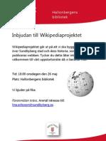 inbjudan wikipediaprojektet