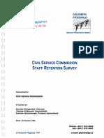 Irish Civil Service Staff Retention Survey