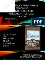 culturally responsive teaching - math and music pptx
