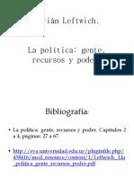 Leftwich - La Política