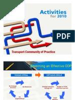 Transport CoP Activities 2010