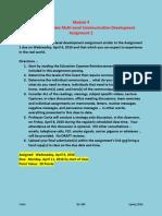 Module 4 - Individual Complex Multi-Level Business Communication Development - Assignment 2 FACTSHEET